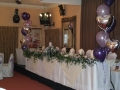 floor standing bouquet with foil balloons